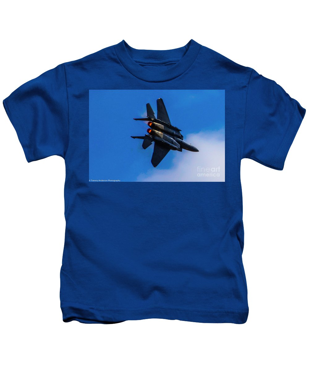 F15 Kids T-Shirt featuring the photograph Pedal To The Metal by Tommy Anderson