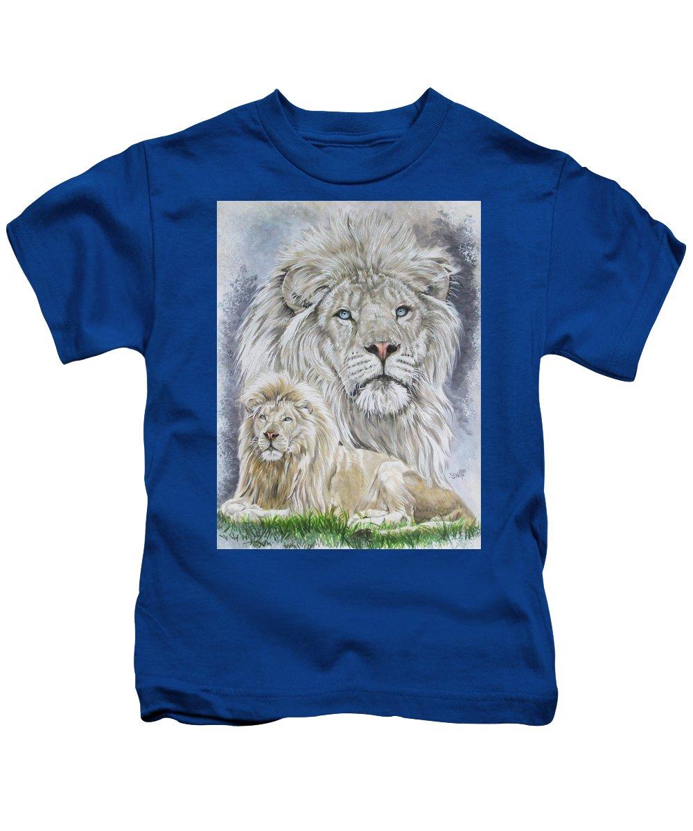 Art Kids T-Shirt featuring the mixed media Phantasy by Barbara Keith