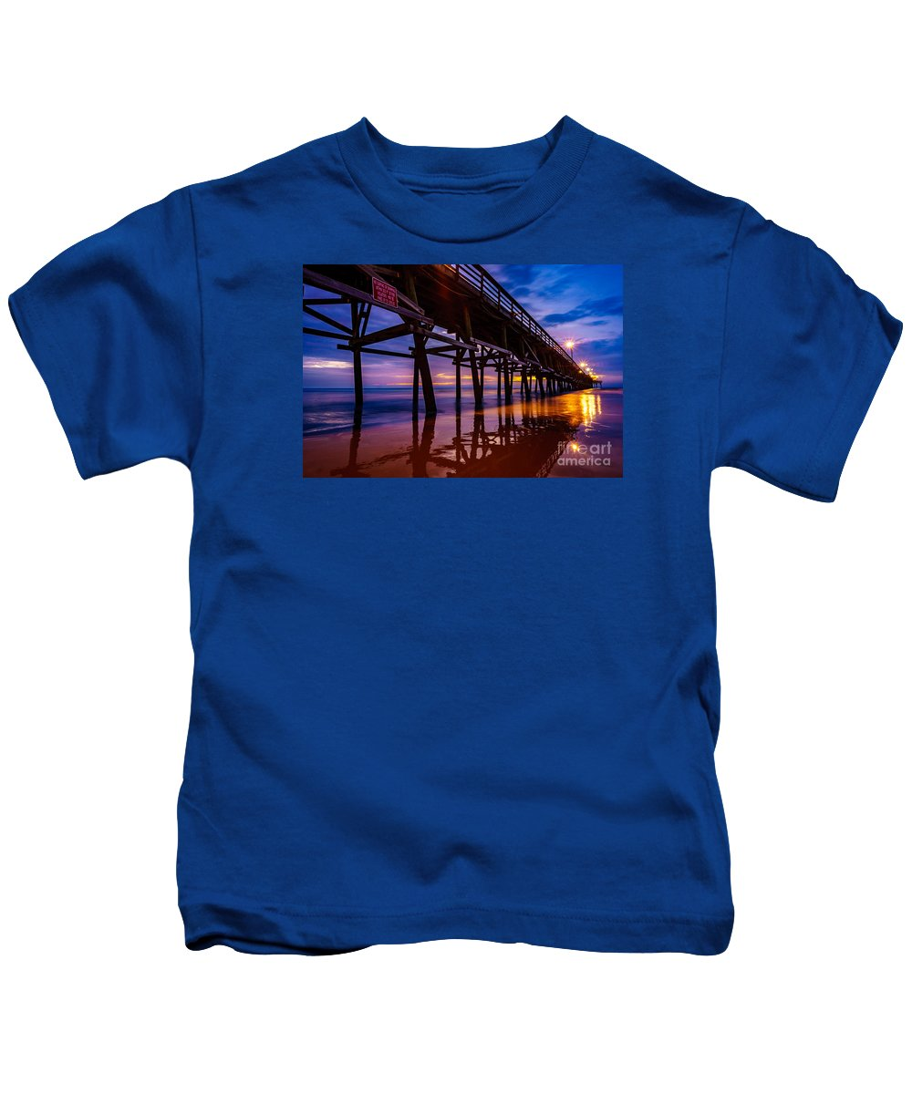 Pier Kids T-Shirt featuring the photograph Pier Sunrise by David Smith