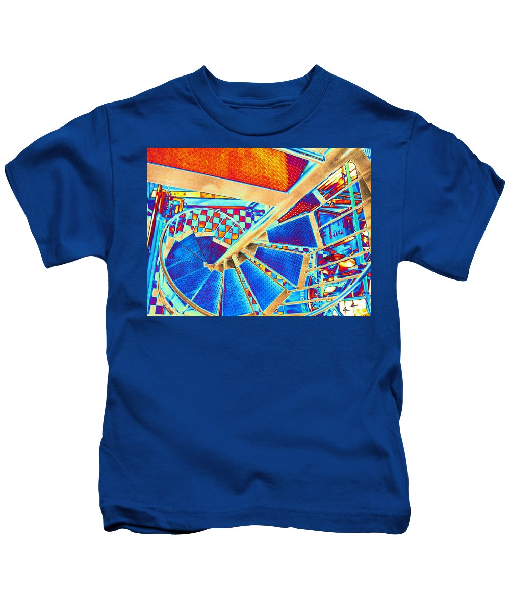 Seattle Kids T-Shirt featuring the digital art Pike Brewpub Stair by Tim Allen