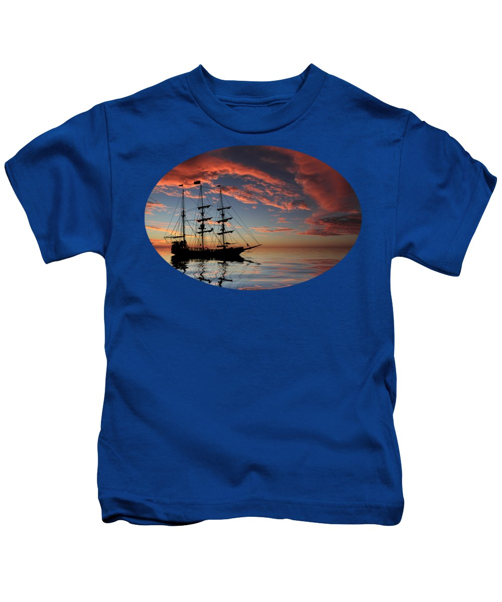 Boat Silhouette Kids T-Shirts