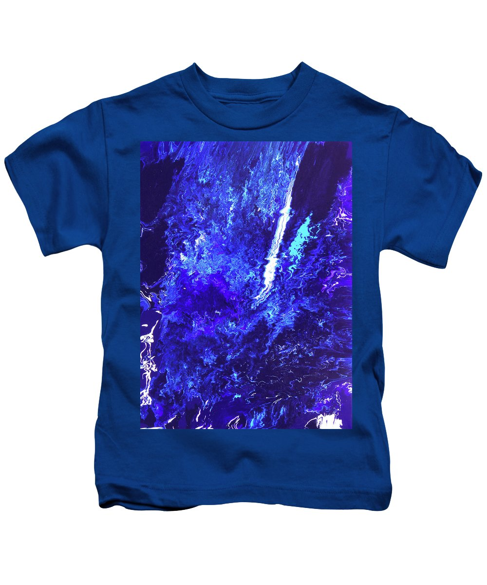 Fusionart Kids T-Shirt featuring the painting Plunge by Ralph White