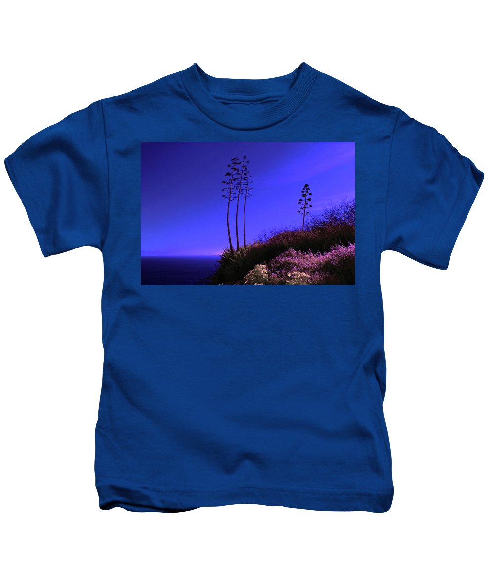 Art Kids T-Shirt featuring the photograph Point Fermin In Infrared by Randall Nyhof