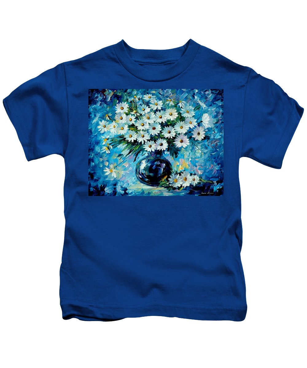 Floral Kids T-Shirt featuring the painting Radiance by Leonid Afremov