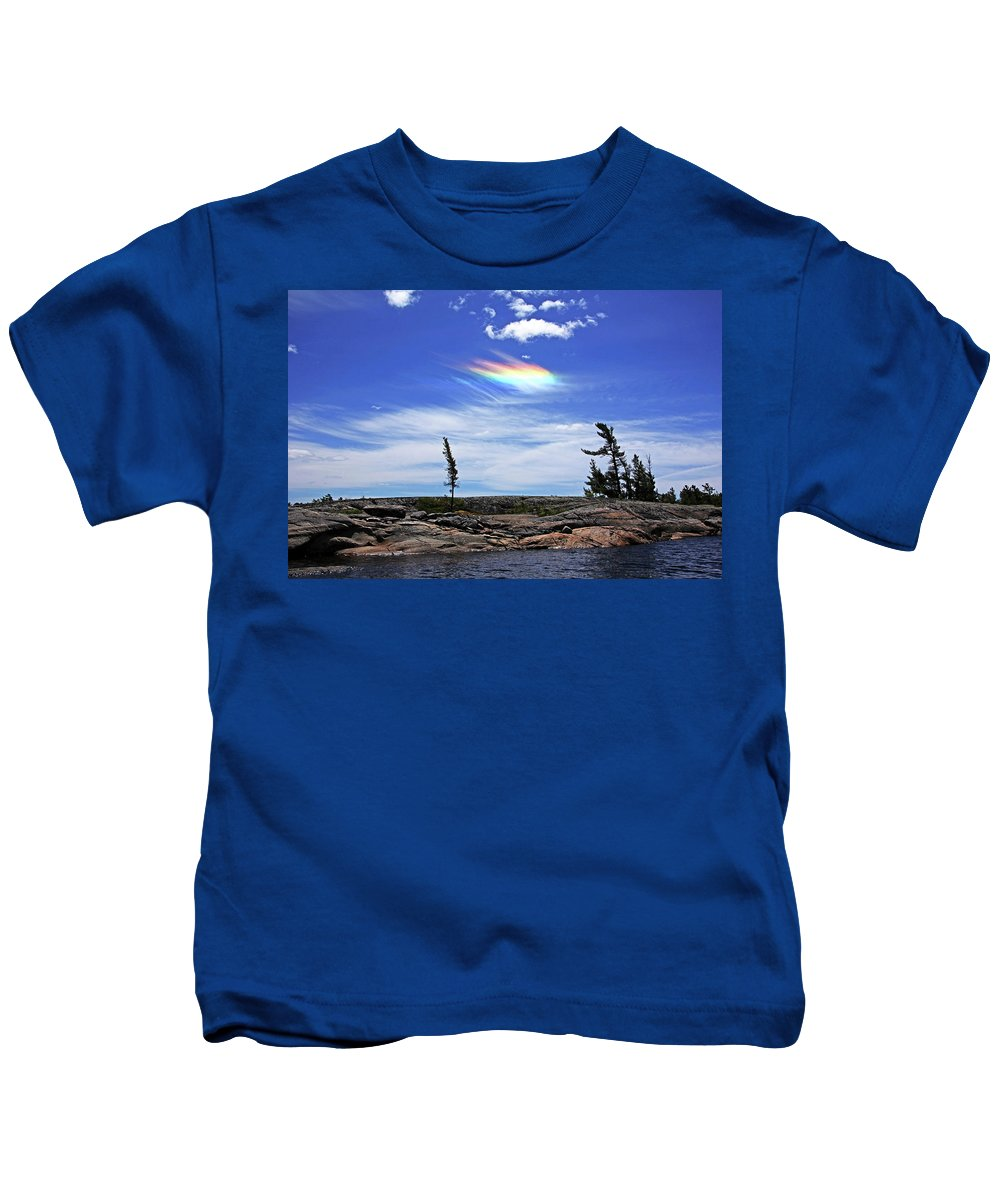 Circumhorizontal Arc Kids T-Shirt featuring the photograph Rainbow In The Clouds by Debbie Oppermann
