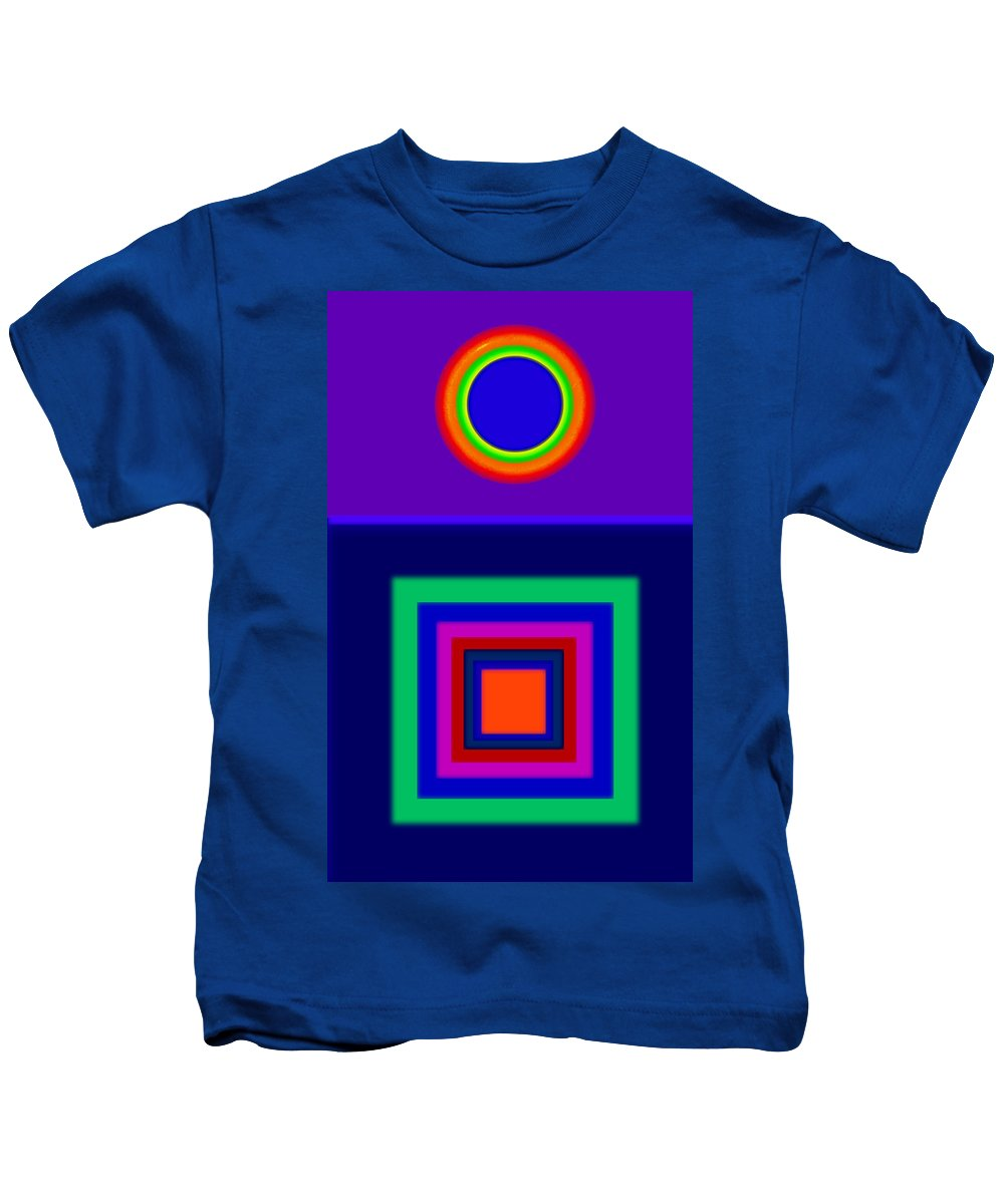 Classical Kids T-Shirt featuring the painting Rapsody In Blue by Charles Stuart