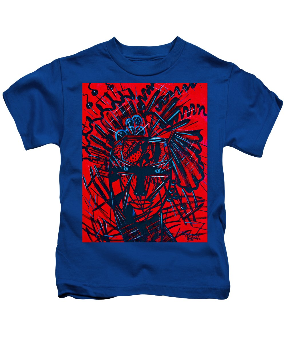 Abstract Kids T-Shirt featuring the painting Red Exotica by Natalie Holland