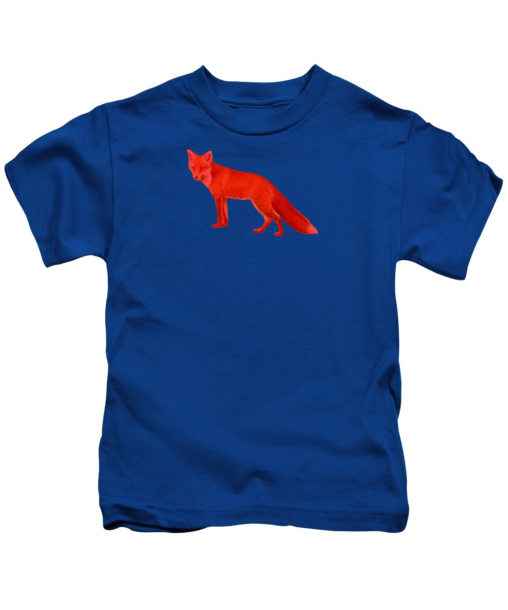 Red Kids T-Shirt featuring the photograph Red Fox Forest by Movie Poster Prints