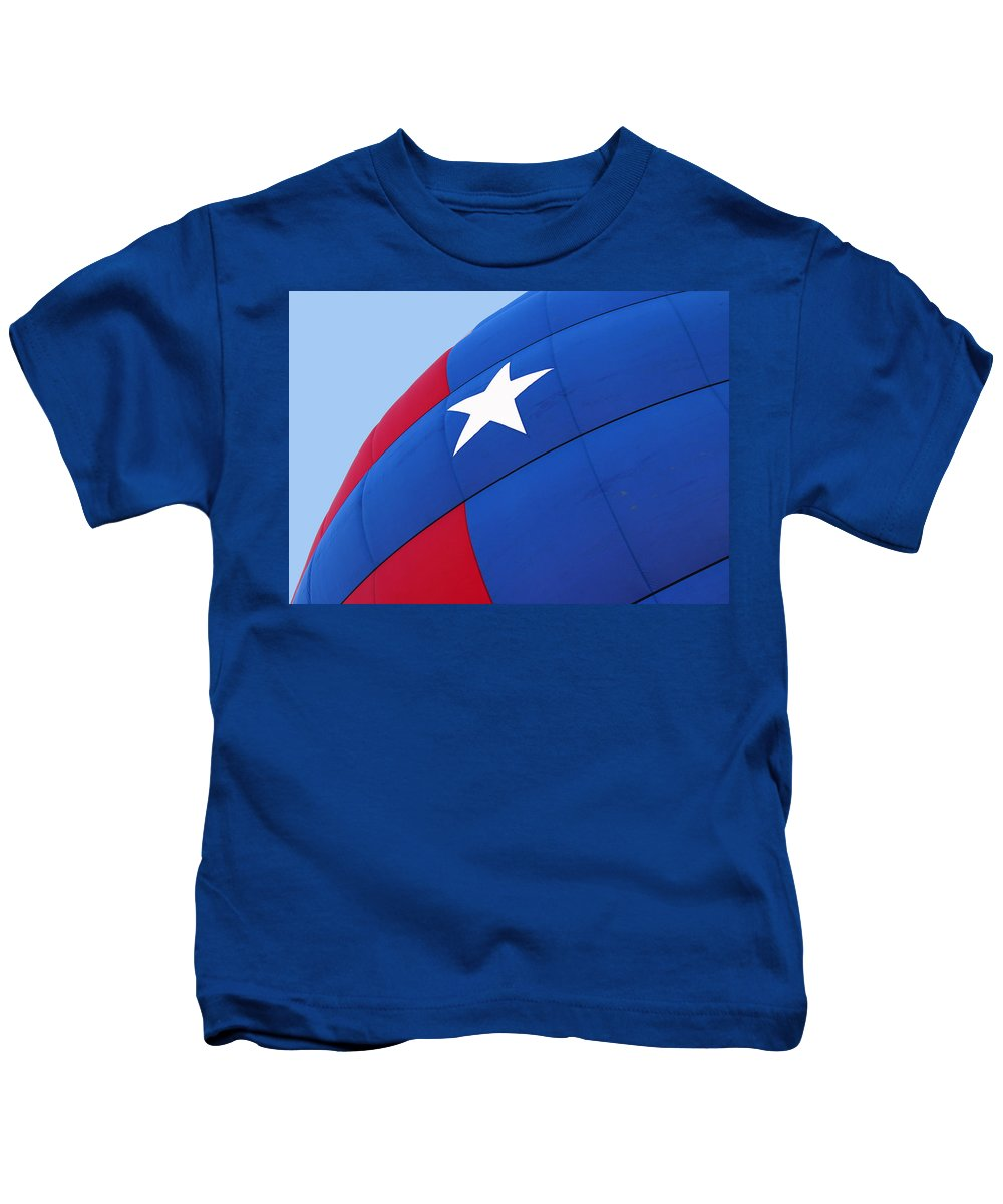 Kids T-Shirt featuring the photograph Red White And Blue Balloon by Lorraine Baum
