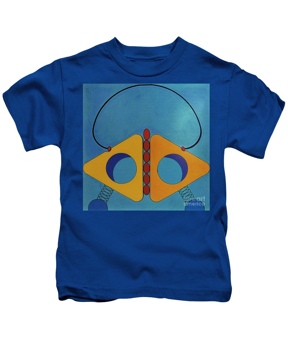 Triangular Spring Kids T-Shirt featuring the drawing Rfb0617 by Robert F Battles