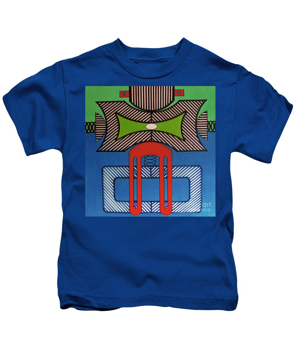 Kids T-Shirt featuring the drawing Rfb0629 by Robert F Battles