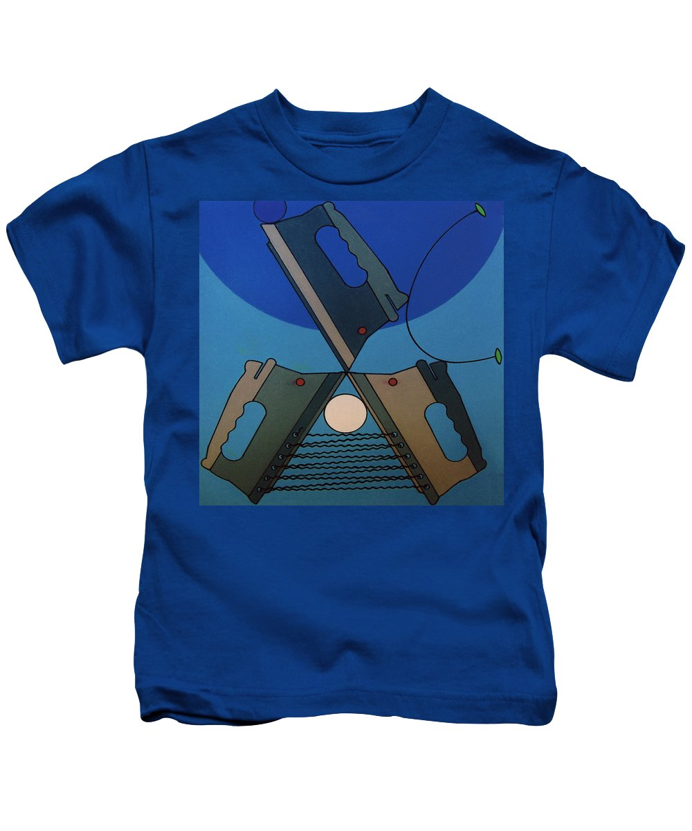 Irons Kids T-Shirt featuring the drawing Rfb0904 by Robert F Battles