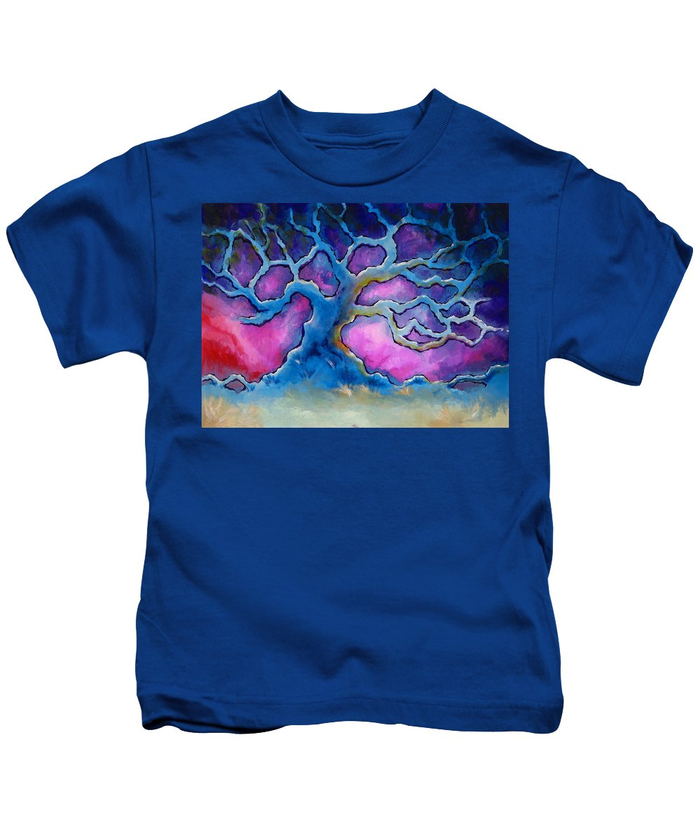 Landscape Kids T-Shirt featuring the painting Ria by Jennifer McDuffie