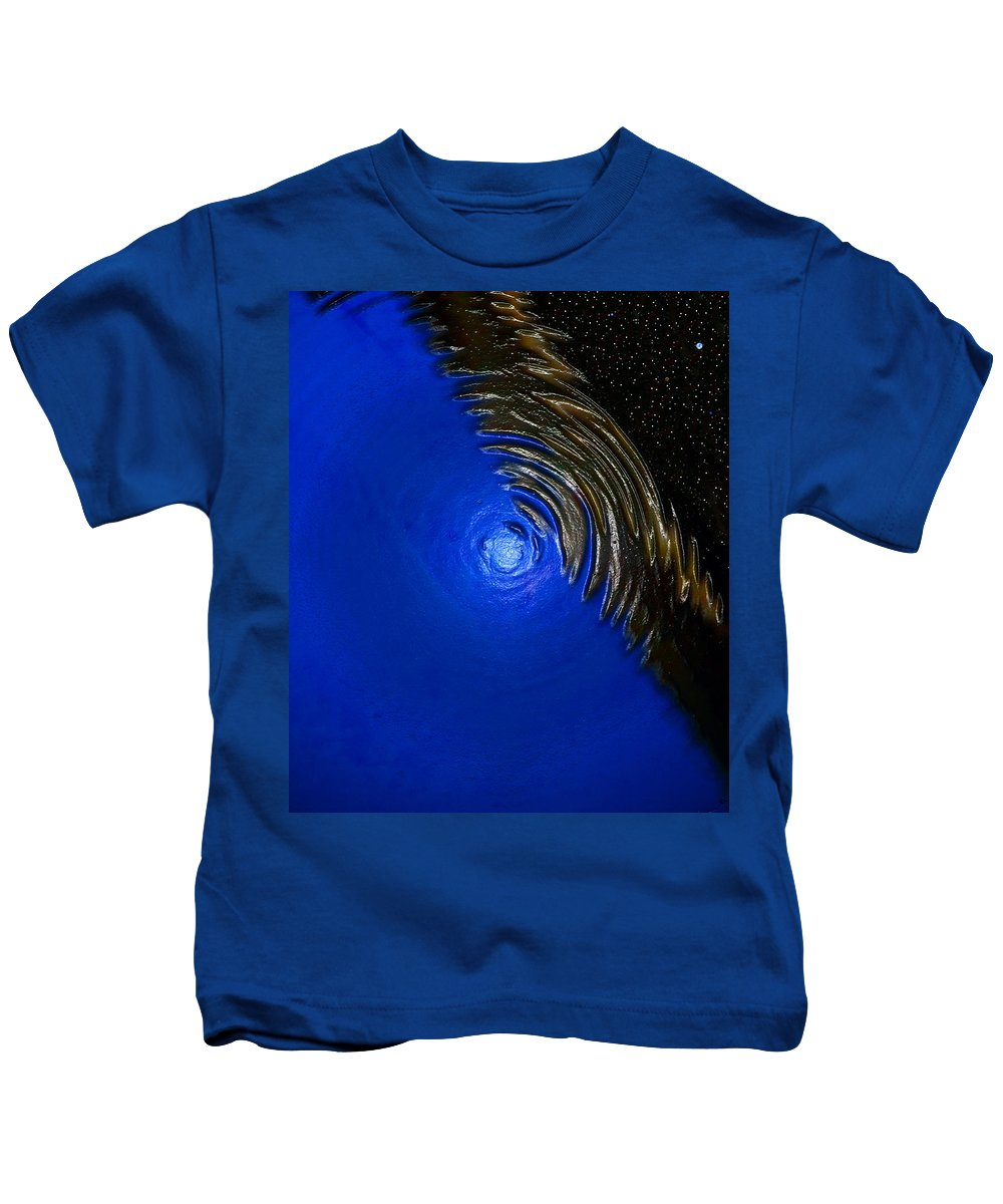 Ripples Of Time And Space Kids T-Shirt featuring the painting Ripples Of Time And Space by David Lee Thompson