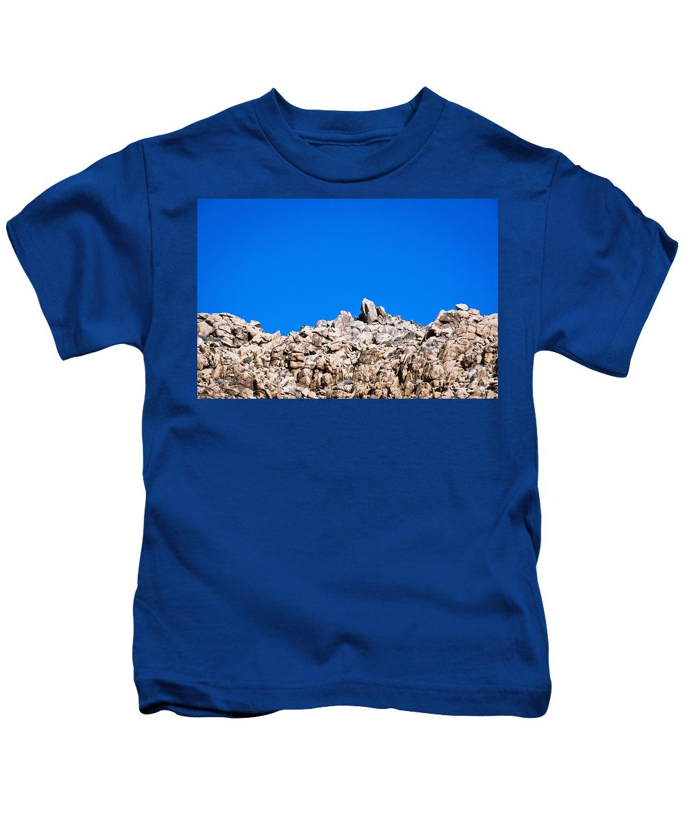 America Kids T-Shirt featuring the photograph Rock Formations And Blue Sky by Bill Brennan - Printscapes