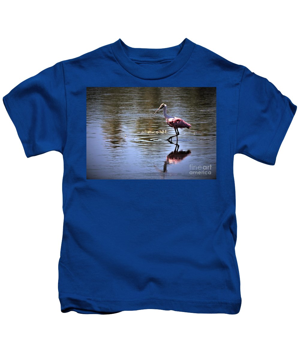 Roseate Spoonbill Kids T-Shirt featuring the photograph Roseate Spoonbill by Diann Fisher