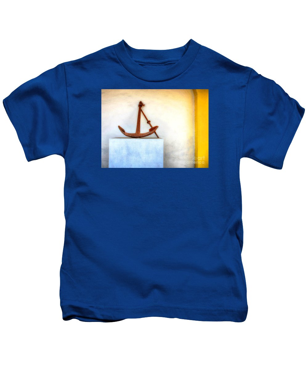 Anchor Kids T-Shirt featuring the photograph Rusty Anchor by Debbi Granruth