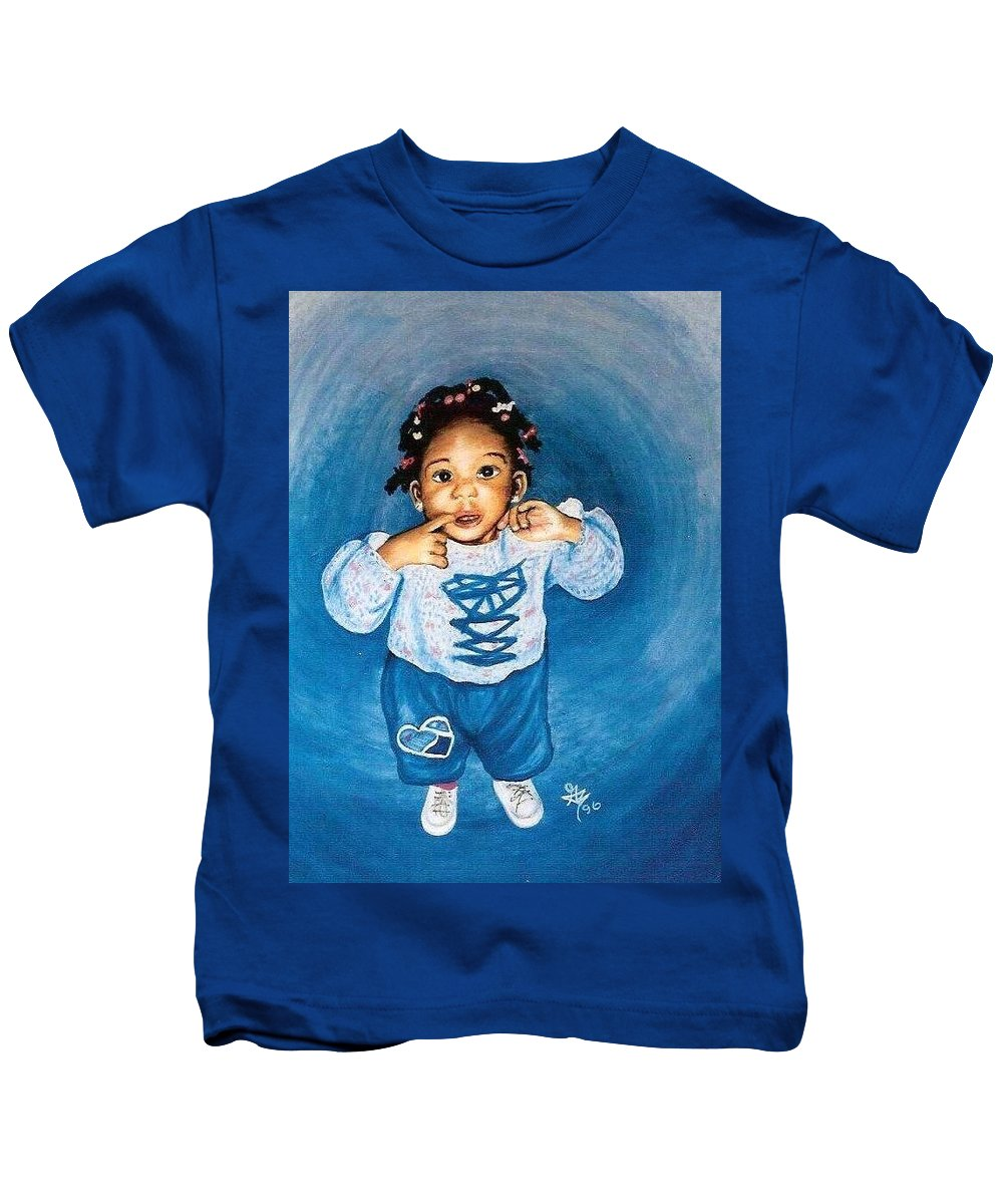 Child Kids T-Shirt featuring the pastel Sadie by Gale Cochran-Smith