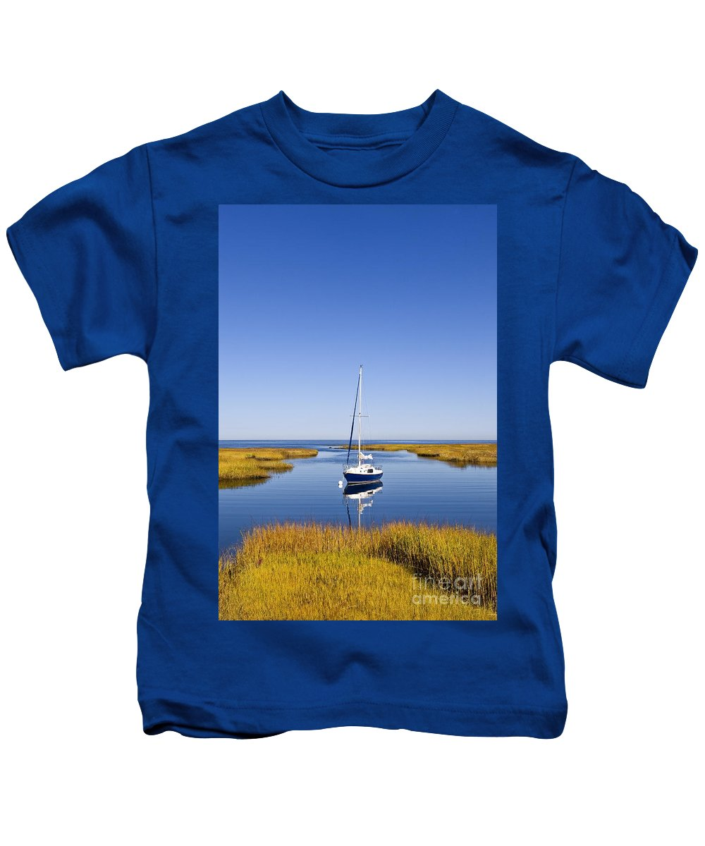 Nobody Kids T-Shirt featuring the photograph Sailboat In Salt Marsh by John Greim