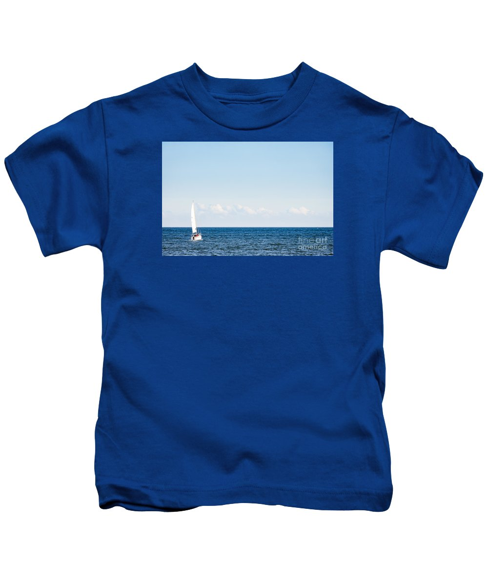 Baltic Sea Kids T-Shirt featuring the photograph Sailing by Lasse Ansaharju