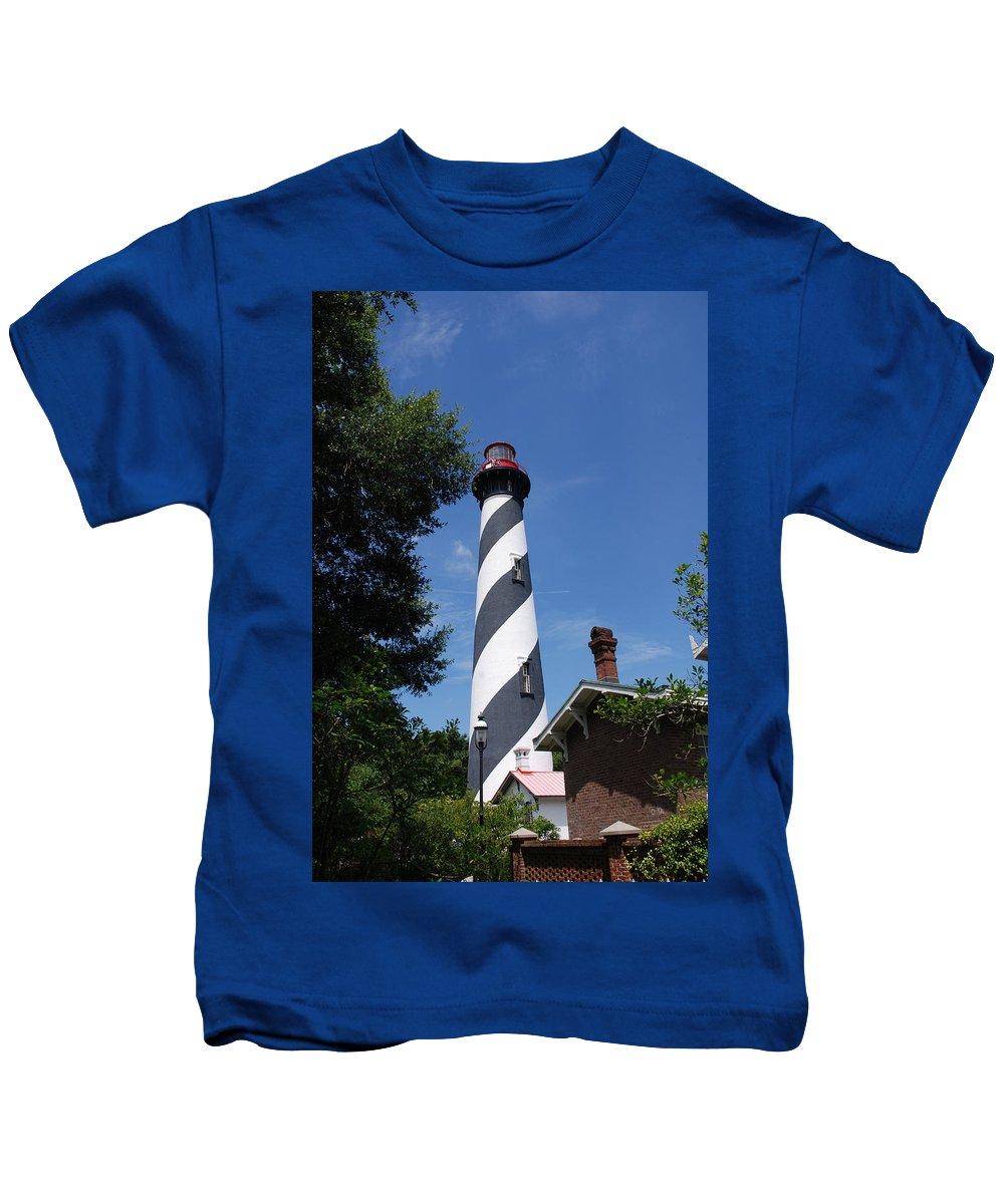 Lighthouse Kids T-Shirt featuring the photograph Saint Augustine Lighhouse by Susanne Van Hulst
