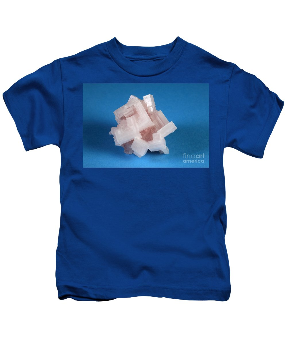 Halite Kids T-Shirt featuring the photograph Salton Sea Salt by Ted Kinsman