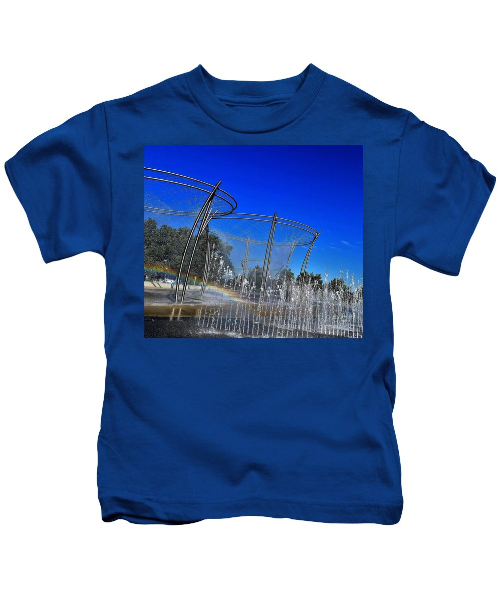 Landscape Kids T-Shirt featuring the photograph Scioto Waterfall by Serbennia Davis