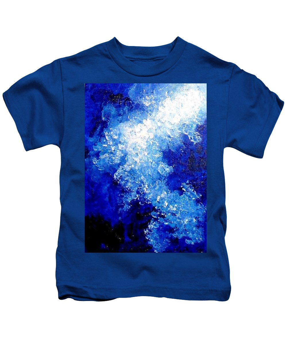 Abstract Kids T-Shirt featuring the painting Shine by Michelle Dallocchio