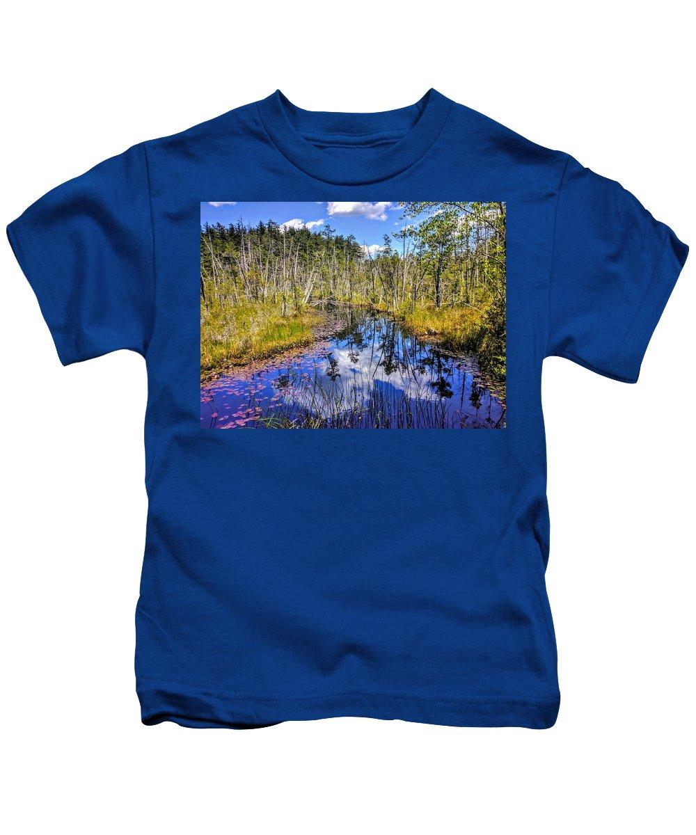 Landscape Kids T-Shirt featuring the photograph Skit Branch by Paul Kercher