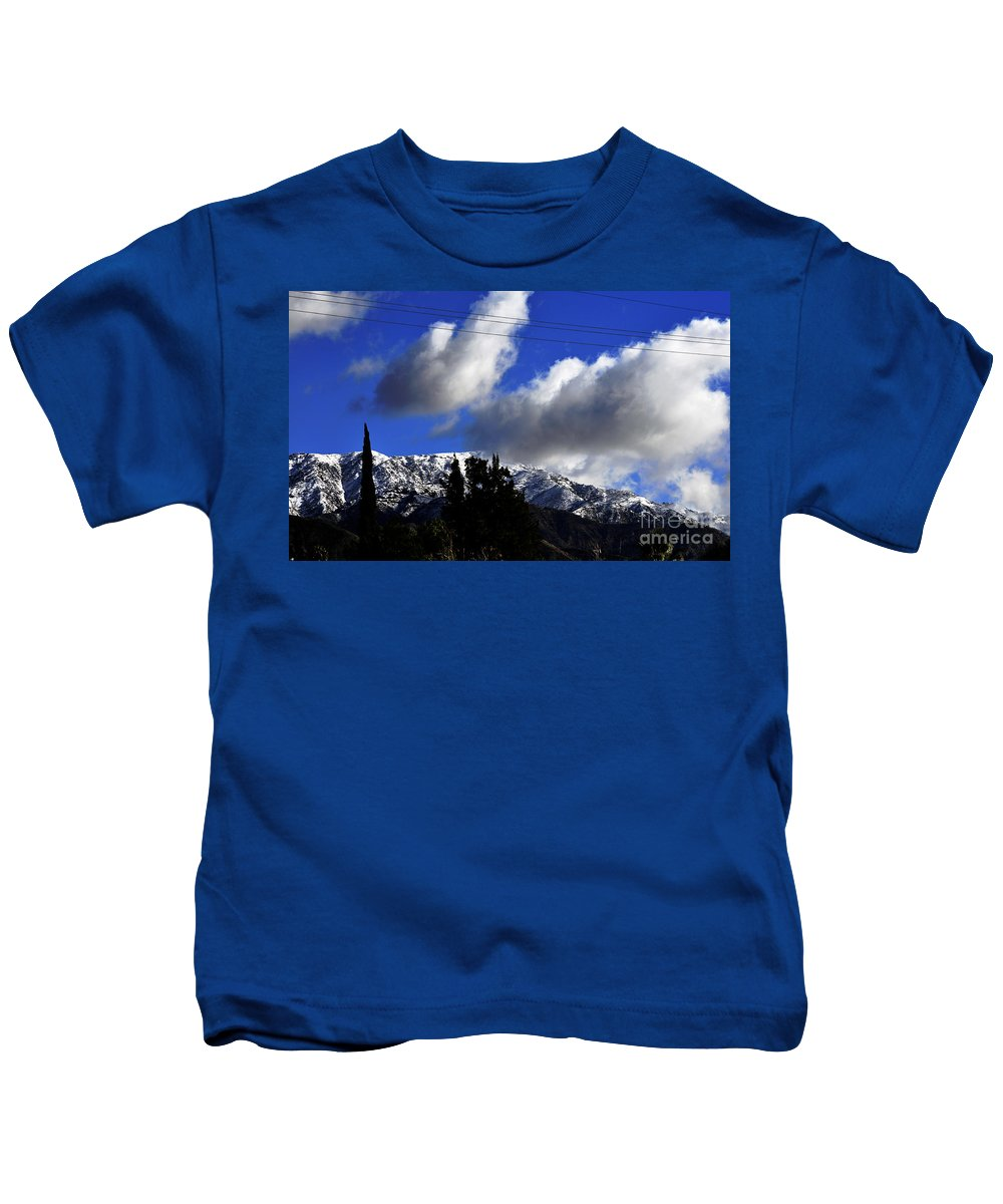 Clay Kids T-Shirt featuring the photograph Snow Line In Socal by Clayton Bruster