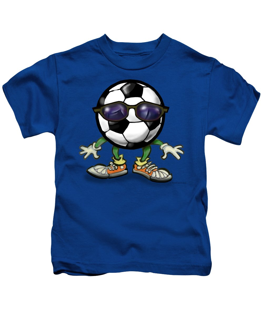 Soccer Kids T-Shirt featuring the digital art Soccer Cool by Kevin Middleton