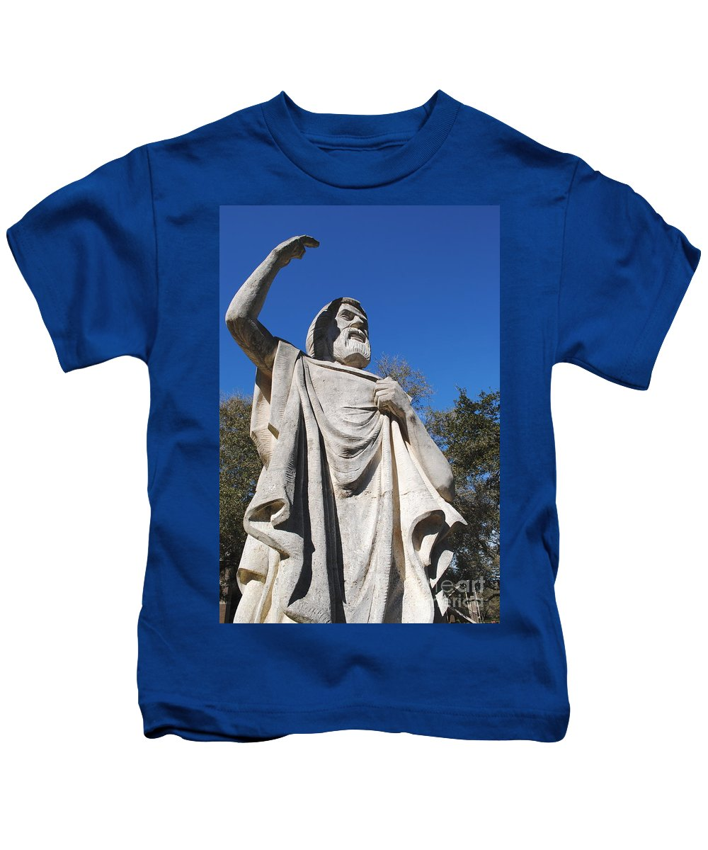 Statue Kids T-Shirt featuring the photograph Speaking To God by Jost Houk