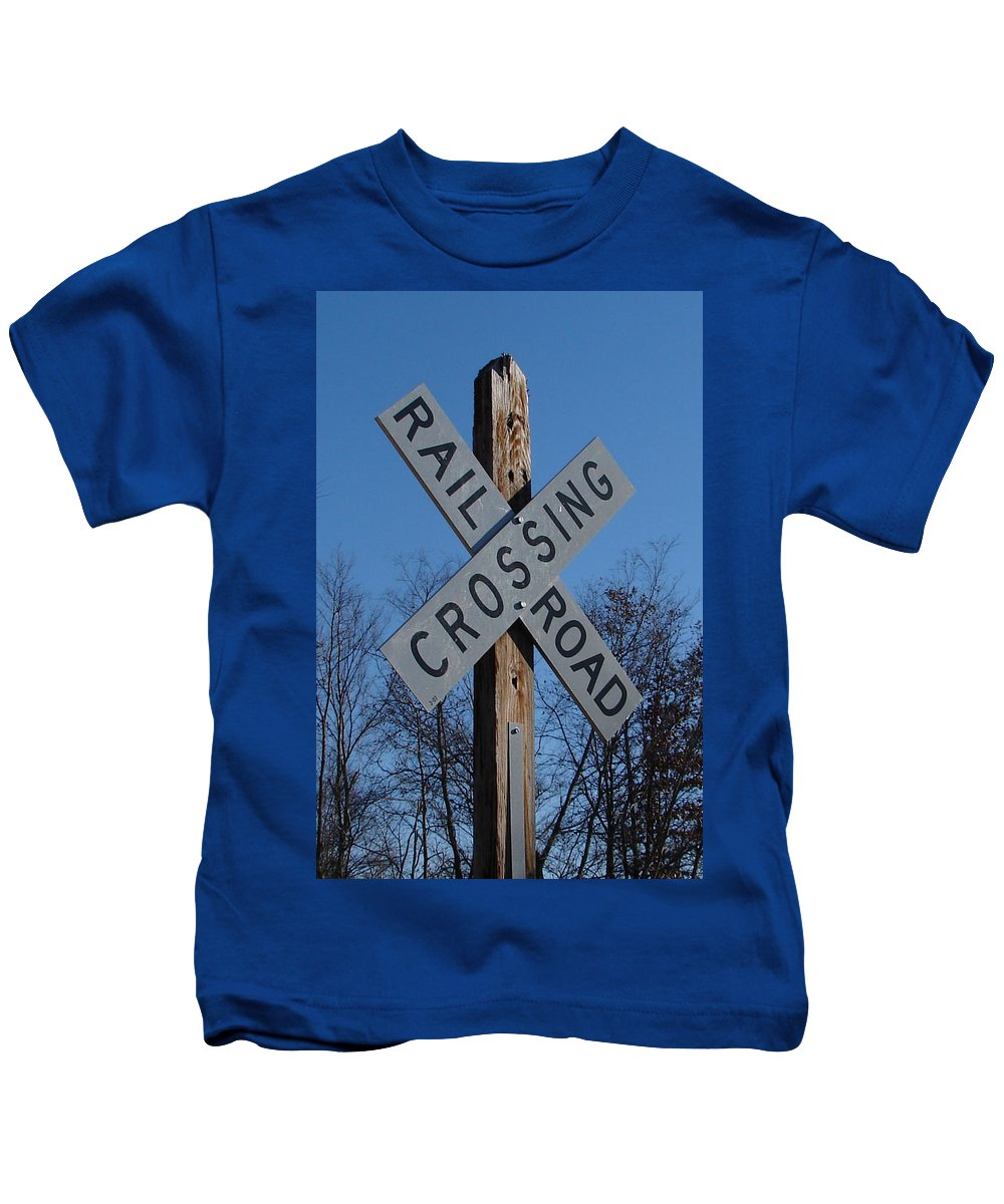 Sign Blue Sky Kids T-Shirt featuring the photograph Speaks For It by Luciana Seymour