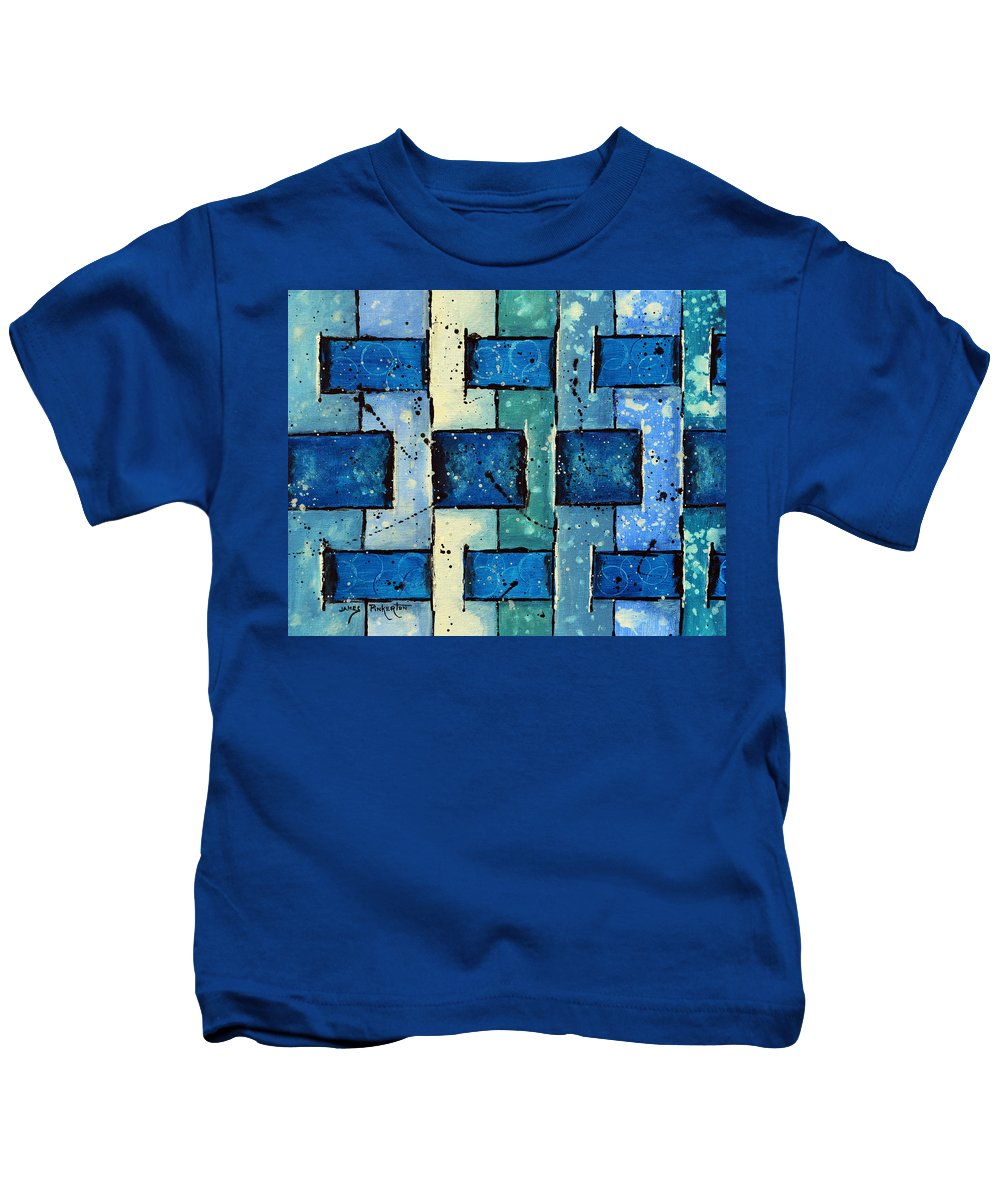 Split Weave Kids T-Shirt featuring the painting Split Weave by James Pinkerton