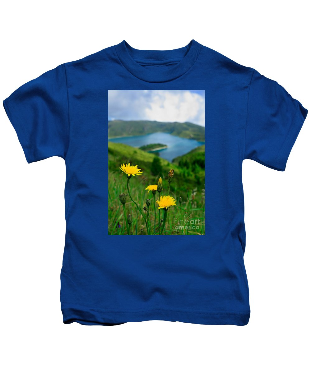 Caldera Kids T-Shirt featuring the photograph Springtime In Fogo Crater by Gaspar Avila