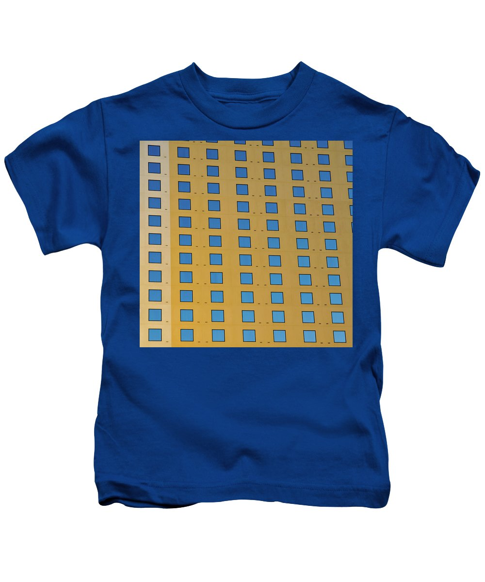 Las Vegas Area Kids T-Shirt featuring the photograph Squares In A Square by Michael Balen