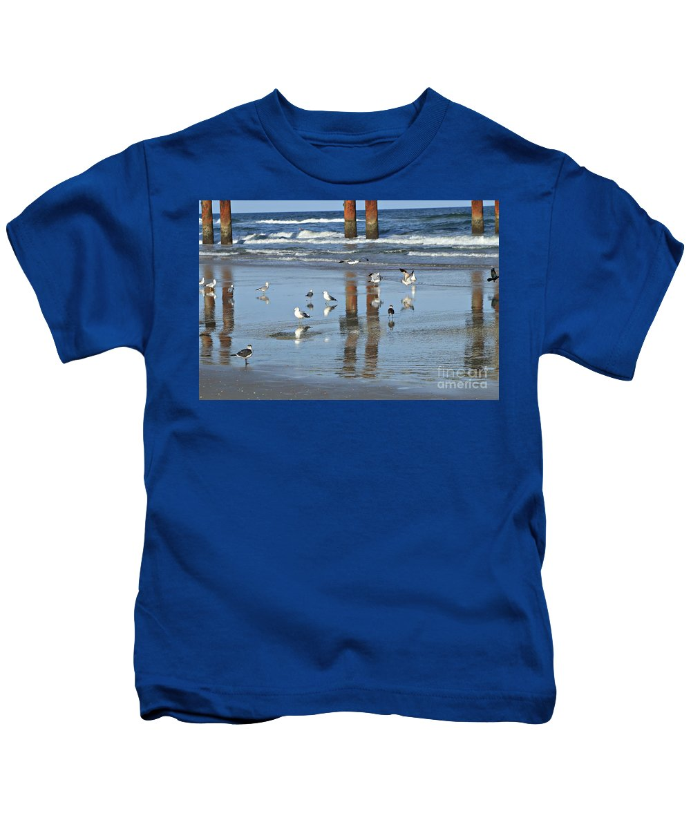 Marcia Lee Jones Kids T-Shirt featuring the photograph St. Augustine Beach by Marcia Lee Jones