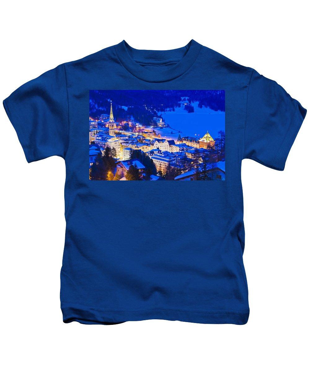 St. Moritz Kids T-Shirt featuring the photograph St. Moritz by Werner Dieterich