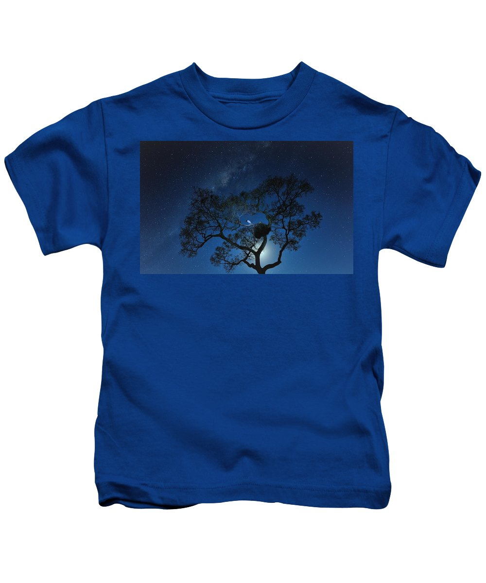 Stork Kids T-Shirt featuring the digital art Stork by Dorothy Binder
