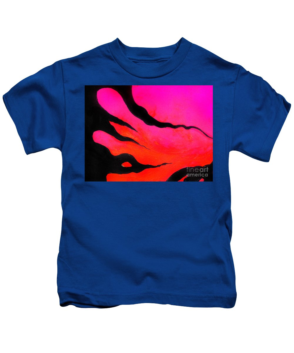 Abstract Art Kids T-Shirt featuring the digital art Strange Abstract Mood by Sofia Metal Queen