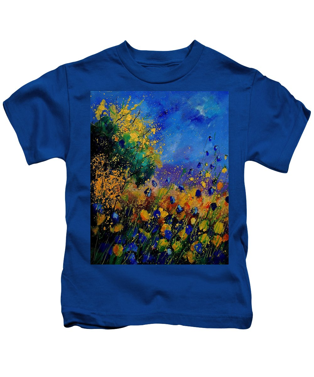 Poppy Kids T-Shirt featuring the painting Summer 459090 by Pol Ledent