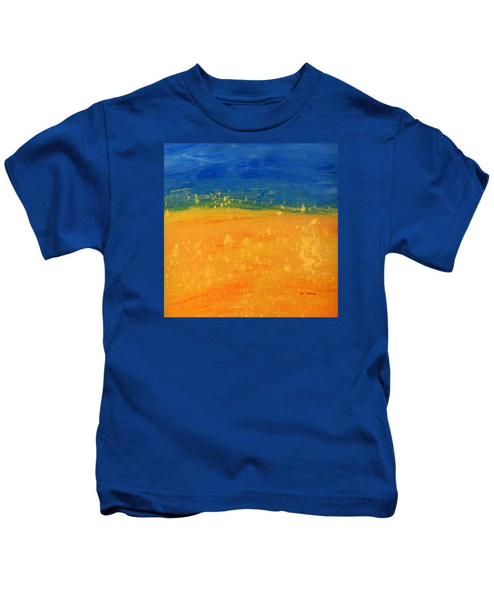 Abstract Landscape Summer Fields Kids T-Shirt featuring the digital art Summer by Betty Pehme