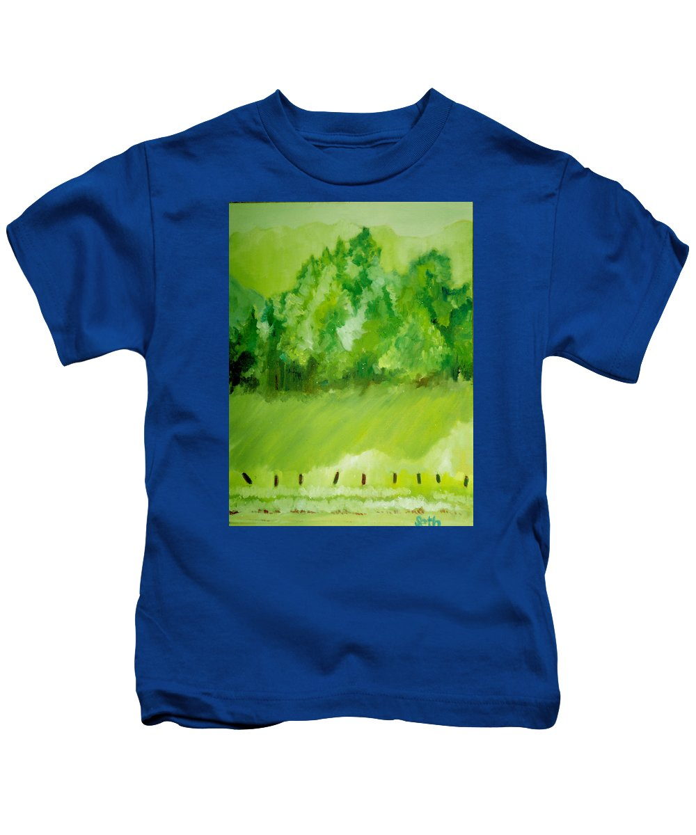 Spring Kids T-Shirt featuring the painting Sunday At Two Thirty by Seth Weaver
