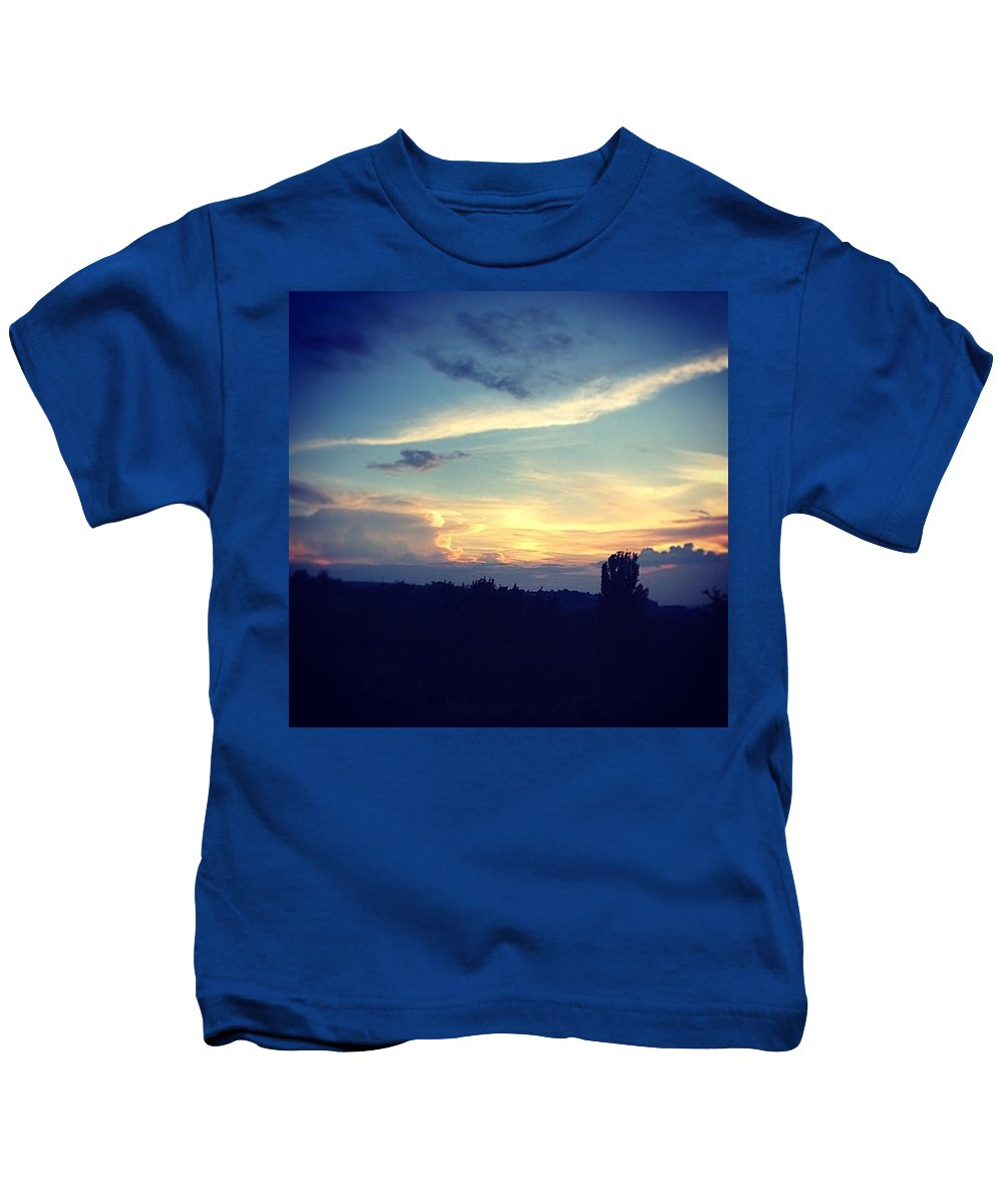 Kids T-Shirt featuring the photograph Sundown by Adam Schrenk