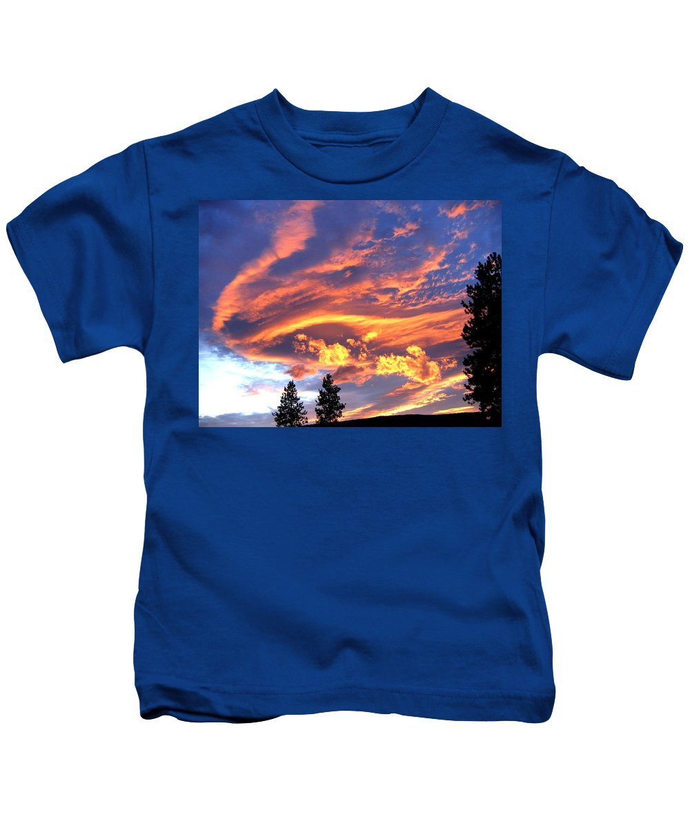 Sunset Kids T-Shirt featuring the photograph Sunset Extravaganza by Will Borden