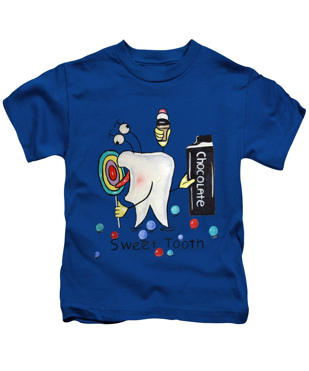 Sweet Tooth Kids T-Shirt featuring the painting Sweet Tooth T-shirt by Anthony Falbo
