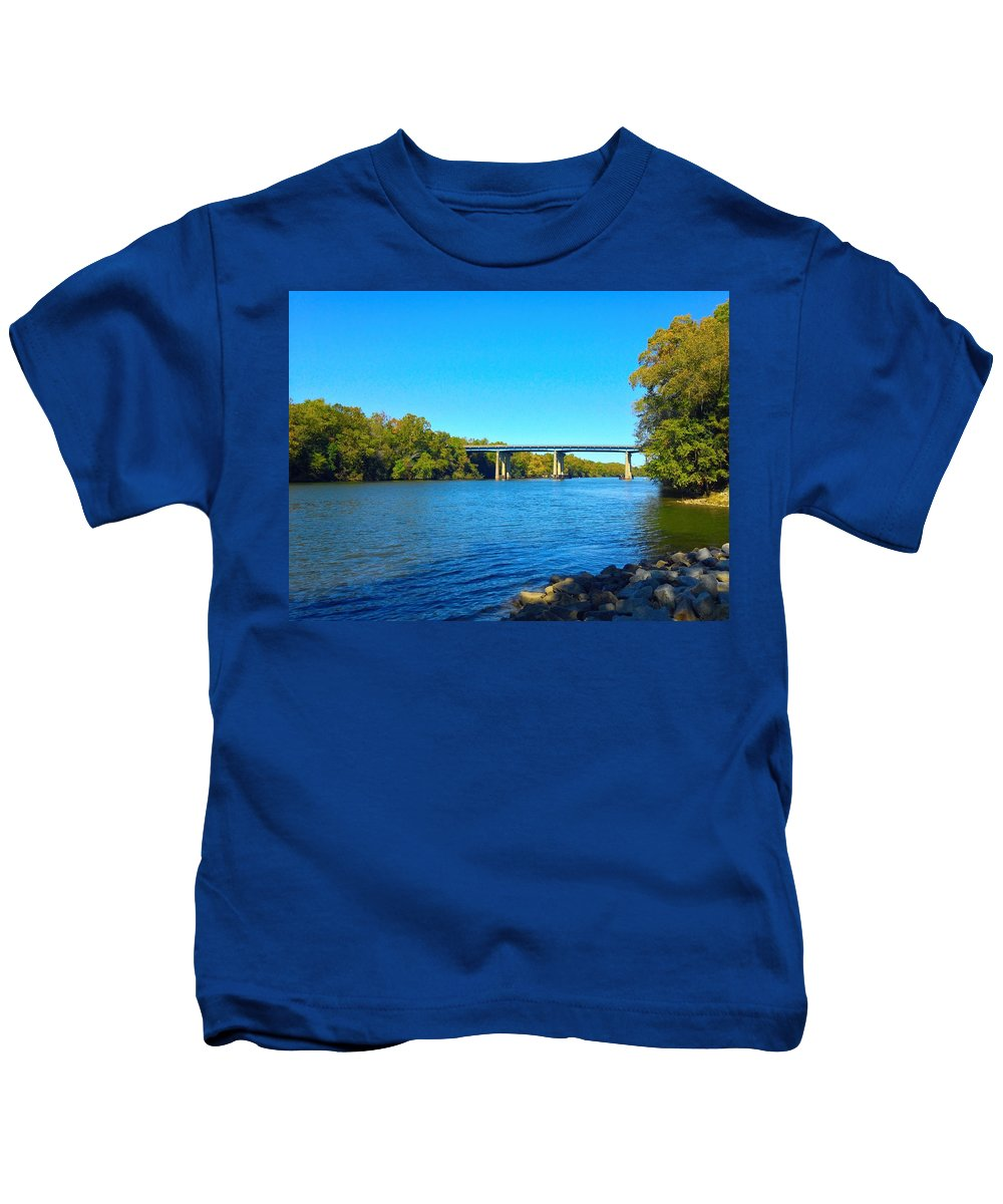 Kids T-Shirt featuring the photograph Tail Race Canal by Avery French