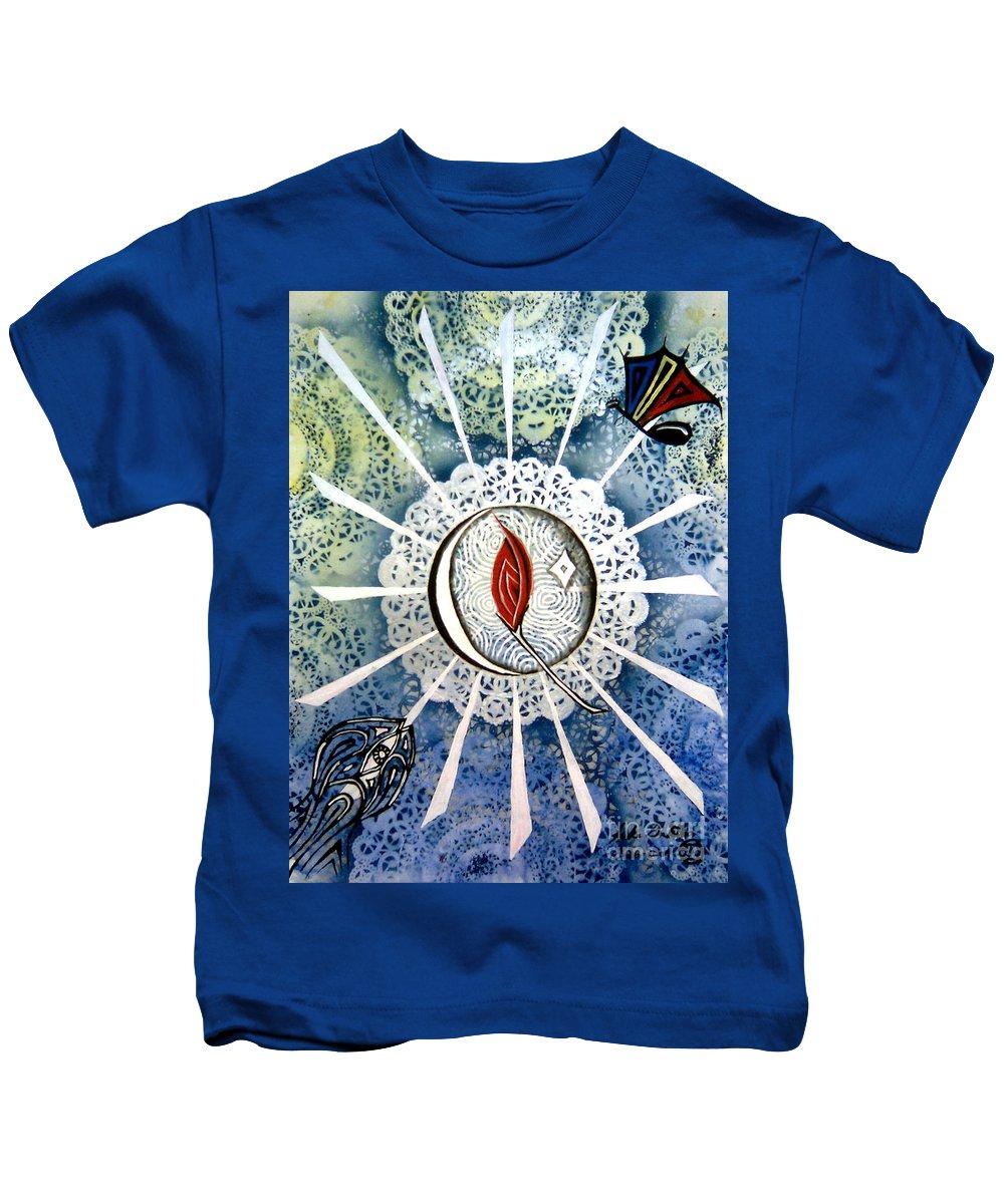 Luke Kids T-Shirt featuring the painting Temperance by Luke Galutia