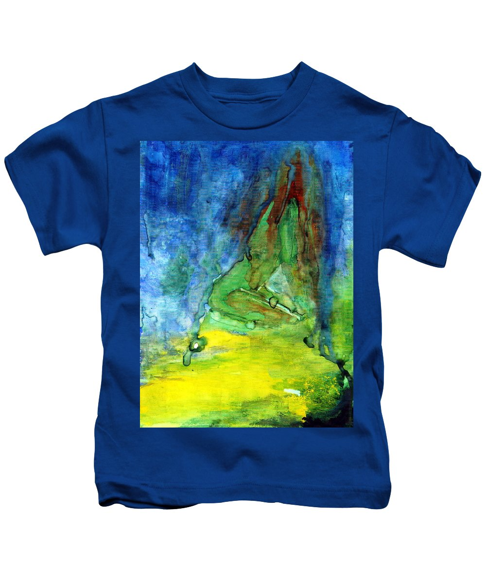Energy Kids T-Shirt featuring the painting Test by Wojtek Kowalski