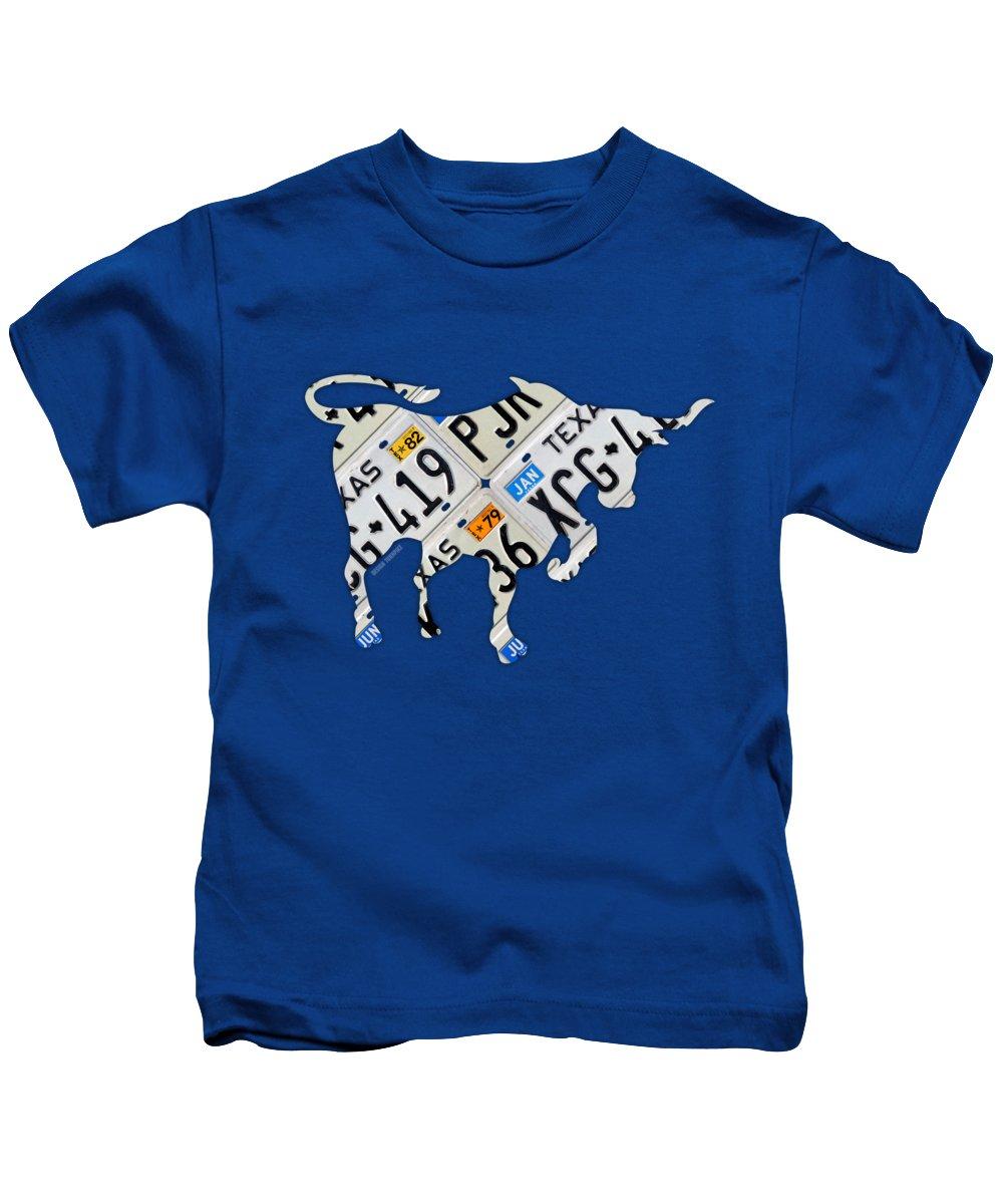 Old Wood Mixed Media Kids T-Shirts